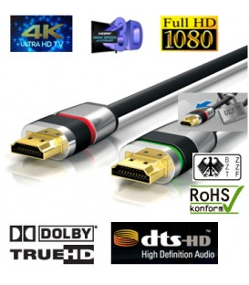 4K HDMI-Kabel , ULTRA-LOCK-SYSTEM™ 7,50m