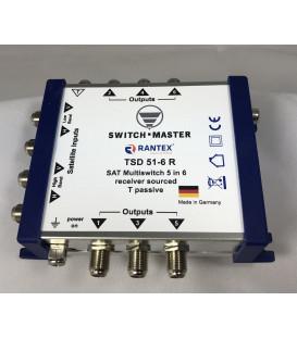 Switch Master 1 Sat - 6 Teilnehmer Multischalter 5/6 HDTV Made in Germany