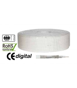 100m coaxial cable 120dB antenna cable 1,0 / 4,6 4x ALU CCS