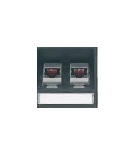 Zwei Modular-Adaptern für Patchkabel