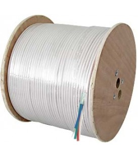 100m 4 fach Koaxkabel für Radio/TV/SAT, weiß, spulenverpackt