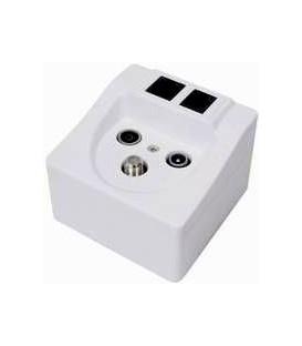 Multimedia Anschlussdose  ISDN BK Sat-TV-Radio-LAN-Telefon
